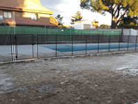 Installation of Alvifence safety fence in Pozuelo de Alarcón